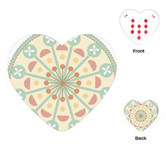 Blue Circle Ornaments Playing Cards (heart)