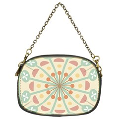 Blue Circle Ornaments Chain Purses (one Side)