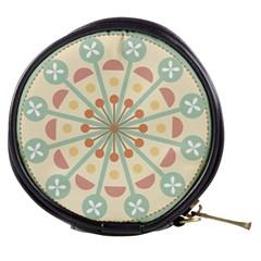 Blue Circle Ornaments Mini Makeup Bags