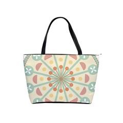 Blue Circle Ornaments Shoulder Handbags