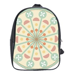 Blue Circle Ornaments School Bags(Large)