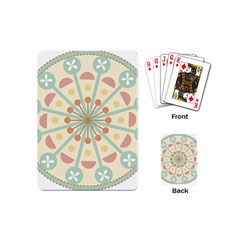 Blue Circle Ornaments Playing Cards (mini)