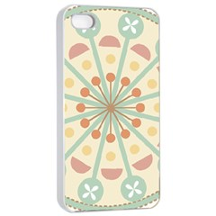 Blue Circle Ornaments Apple Iphone 4/4s Seamless Case (white)