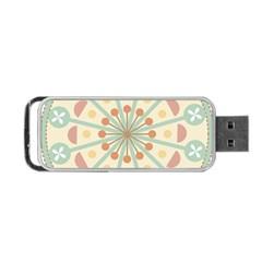 Blue Circle Ornaments Portable USB Flash (Two Sides)
