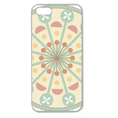 Blue Circle Ornaments Apple Seamless Iphone 5 Case (clear)
