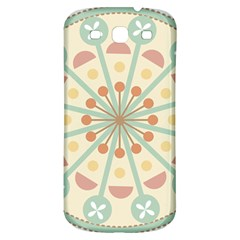 Blue Circle Ornaments Samsung Galaxy S3 S Iii Classic Hardshell Back Case