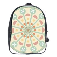 Blue Circle Ornaments School Bags (XL)