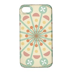 Blue Circle Ornaments Apple Iphone 4/4s Hardshell Case With Stand