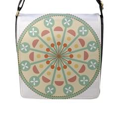 Blue Circle Ornaments Flap Messenger Bag (l)