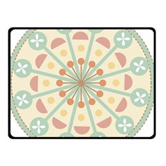 Blue Circle Ornaments Double Sided Fleece Blanket (small)