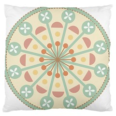 Blue Circle Ornaments Large Flano Cushion Case (one Side)