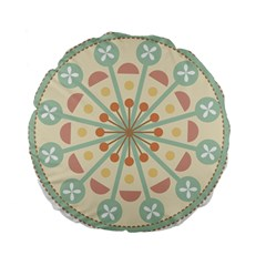 Blue Circle Ornaments Standard 15  Premium Flano Round Cushions