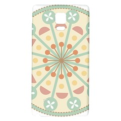 Blue Circle Ornaments Galaxy Note 4 Back Case