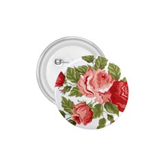 Flower Rose Pink Red Romantic 1.75  Buttons