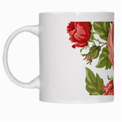 Flower Rose Pink Red Romantic White Mugs