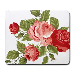 Flower Rose Pink Red Romantic Large Mousepads