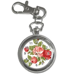 Flower Rose Pink Red Romantic Key Chain Watches