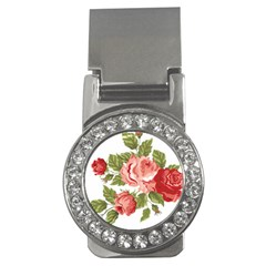 Flower Rose Pink Red Romantic Money Clips (cz)