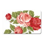 Flower Rose Pink Red Romantic Magnet (Rectangular) Front