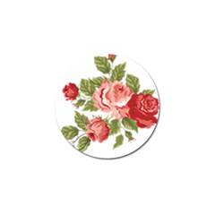 Flower Rose Pink Red Romantic Golf Ball Marker (4 Pack)
