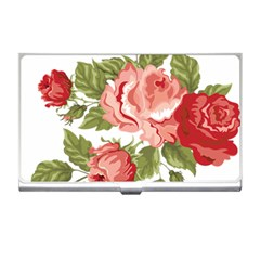 Flower Rose Pink Red Romantic Business Card Holders