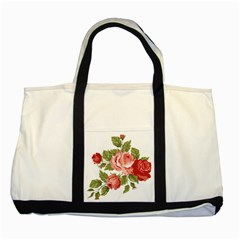 Flower Rose Pink Red Romantic Two Tone Tote Bag