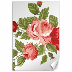 Flower Rose Pink Red Romantic Canvas 20  X 30