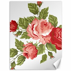 Flower Rose Pink Red Romantic Canvas 36  x 48