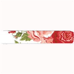 Flower Rose Pink Red Romantic Small Bar Mats