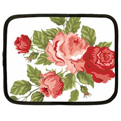Flower Rose Pink Red Romantic Netbook Case (large)