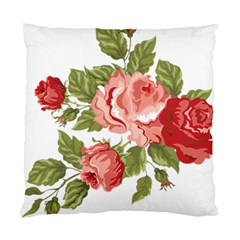 Flower Rose Pink Red Romantic Standard Cushion Case (two Sides)