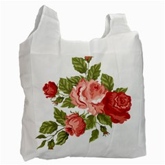 Flower Rose Pink Red Romantic Recycle Bag (Two Side)