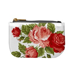 Flower Rose Pink Red Romantic Mini Coin Purses