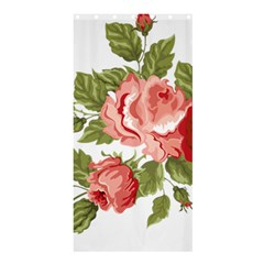 Flower Rose Pink Red Romantic Shower Curtain 36  x 72  (Stall)