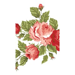Flower Rose Pink Red Romantic Shower Curtain 48  x 72  (Small)
