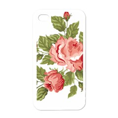 Flower Rose Pink Red Romantic Apple Iphone 4 Case (white)