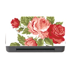 Flower Rose Pink Red Romantic Memory Card Reader With Cf