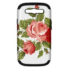 Flower Rose Pink Red Romantic Samsung Galaxy S Iii Hardshell Case (pc+silicone)