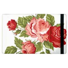 Flower Rose Pink Red Romantic Apple Ipad 3/4 Flip Case