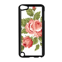 Flower Rose Pink Red Romantic Apple iPod Touch 5 Case (Black)
