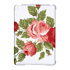 Flower Rose Pink Red Romantic Apple Ipad Mini Hardshell Case (compatible With Smart Cover)