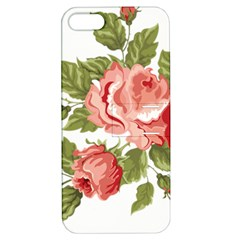 Flower Rose Pink Red Romantic Apple Iphone 5 Hardshell Case With Stand