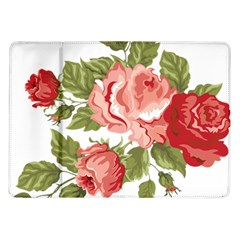 Flower Rose Pink Red Romantic Samsung Galaxy Tab 10 1  P7500 Flip Case