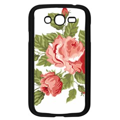 Flower Rose Pink Red Romantic Samsung Galaxy Grand Duos I9082 Case (black)