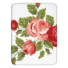 Flower Rose Pink Red Romantic Samsung Galaxy Tab 3 (10 1 ) P5200 Hardshell Case