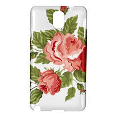 Flower Rose Pink Red Romantic Samsung Galaxy Note 3 N9005 Hardshell Case