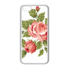Flower Rose Pink Red Romantic Apple Iphone 5c Seamless Case (white)