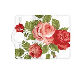 Flower Rose Pink Red Romantic Kindle Fire HD (2013) Flip 360 Case