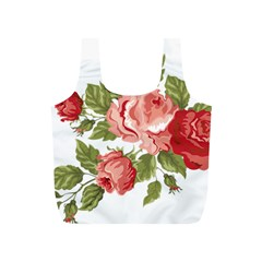Flower Rose Pink Red Romantic Full Print Recycle Bags (S)