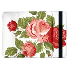 Flower Rose Pink Red Romantic Samsung Galaxy Tab Pro 12.2  Flip Case